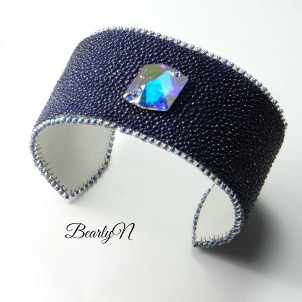 bracelet galuchat Ultra-violet