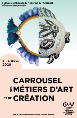 Affiche Carrousel Métiers d'Art 2020