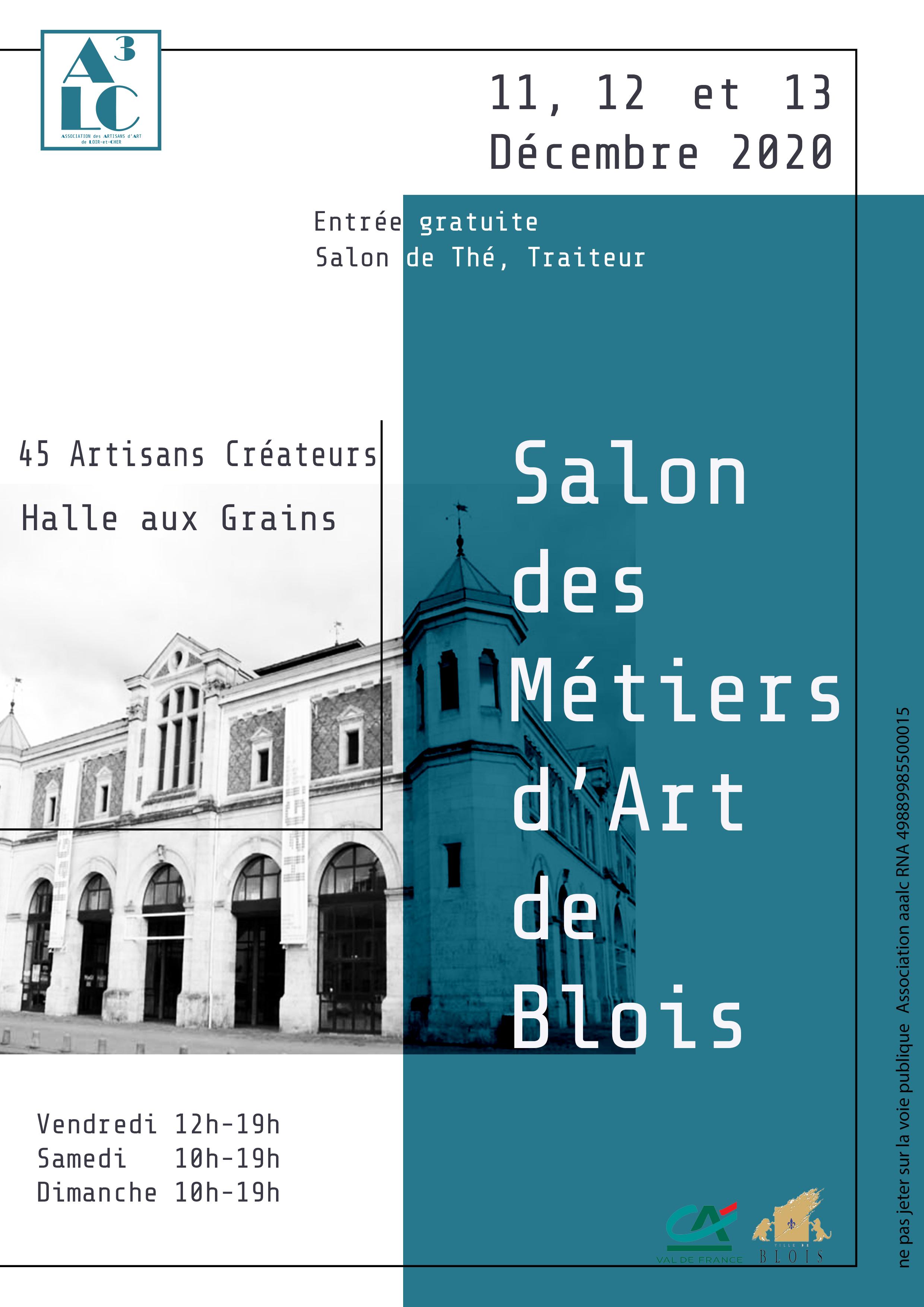 affiche 2020 Salon des Métiers d'Art de Blois